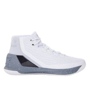 Under Armour Men's Stephen Curry 3 White Gray 10